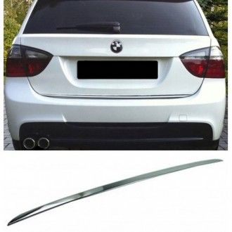 BMW 3 E91 Kombi - CHROME Rear Strip Trunk Tuning Lid 3M Boot