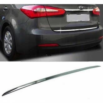 KIA RIO III Sedan - CHROME Rear Strip Trunk Tuning Lid 3M...