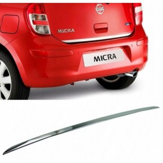 Nissan MICRA 4 K13 - CHROME Rear Strip Trunk Tuning Lid...