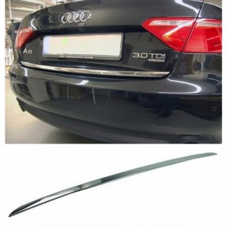 Audi A5 Coupe 8T3 - CHROME Rear Strip Trunk Tuning Lid 3M...