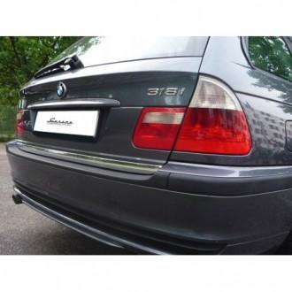BMW 5 E39 Kombi - CHROME Rear Strip Trunk Tuning Lid 3M Boot