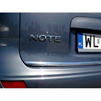 NISSAN NOTE I E11 - CHROME Rear Strip Trunk Tuning Lid 3M Boot