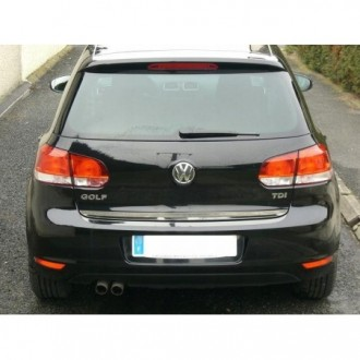 VW GOLF 6 VI - CHROME Rear Strip Trunk Tuning Lid 3M Boot