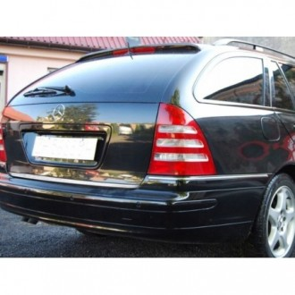 Mercedes C Klasa S203 Kombi - CHROME Rear Strip Trunk Tuning Lid 3M Boot