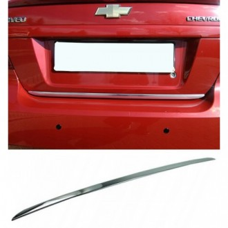 Chevrolet AVEO T300 HB - CHROME Rear Strip Trunk Tuning...