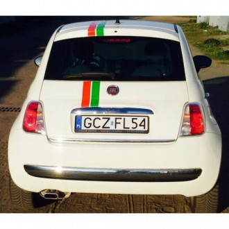 FIAT 500 - CHROME Rear Strip Trunk Tuning Lid 3M Boot