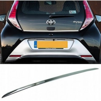 Toyota AYGO II 2014 - CHROME Rear Strip Trunk Tuning Lid...