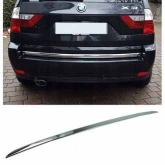 BMW X3 X-3 E83 - CHROME Rear Strip Trunk Tuning Lid 3M Boot