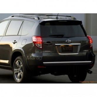 Toyota RAV4 III - CHROME Rear Strip Trunk Tuning Lid 3M Boot