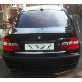 BMW 3 E46 - CHROME Rear Strip Trunk Tuning Lid 3M Boot