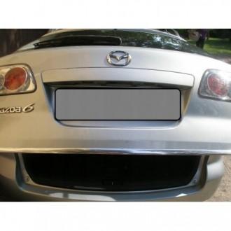 Mazda 6 I GY Kombi - Chrom-Zierleiste Heckleiste 3M Tuning Chromleiste Heckklappe