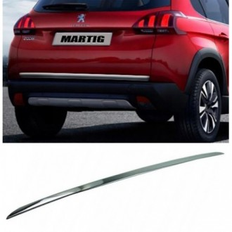 PEUGEOT 2008 - CHROME Rear Strip Trunk Tuning Lid 3M Boot
