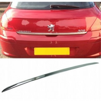 Peugeot 308 HB - CHROME Rear Strip Trunk Tuning Lid 3M Boot