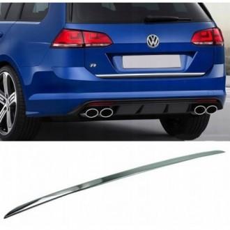 VW GOLF VII 7 Kombi - CHROME Rear Strip Trunk Tuning Lid...