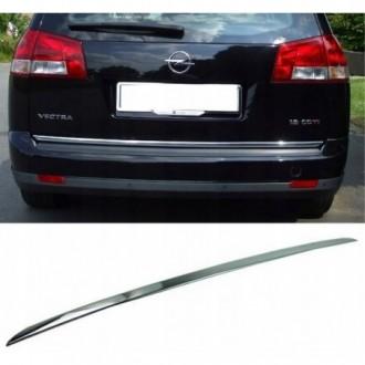 Opel VECTRA C Kombi - CHROME Rear Strip Trunk Tuning Lid...