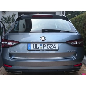 SKODA SUPERB III 3 Kombi - CHROME Rear Strip Trunk Tuning Lid 3M Boot
