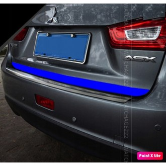 Blue Rear Strip Trunk Tuning Lid 3M Boot