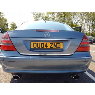 Mercedes S 220 - CHROME Rear Strip Trunk Tuning Lid 3M Boot