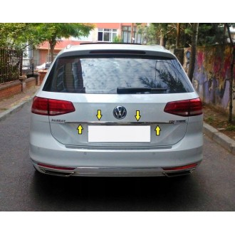 VW Passat B8 Kombi - CHROME Rear Strip Trunk Tuning Lid 3M Boot