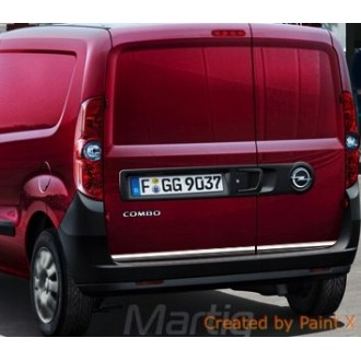 Opel COMBO C - CHROME Rear Strip Trunk Tuning Lid 3M Boot