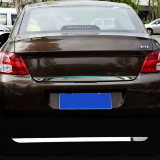 PEUGEOT 301 LIFT - CHROME Rear Strip Trunk Tuning Lid 3M Boot