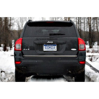 Jeep COMPASS I - CHROME Rear Strip Trunk Tuning Lid 3M Boot
