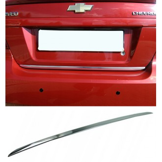 Chevrolet AVEO T250 HB - CHROME Rear Strip Trunk Tuning Lid 3M Boot