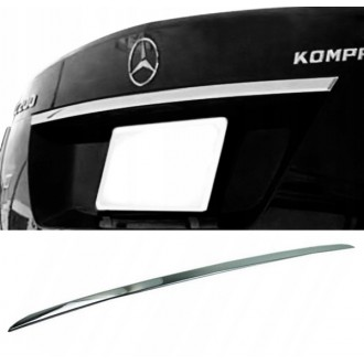 Mercedes W204 Sedan - CHROME Rear Strip Trunk Tuning Lid 3M Boot
