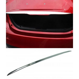 Mazda 3 II Sedan - CHROME Rear Strip Trunk Tuning Lid 3M Boot
