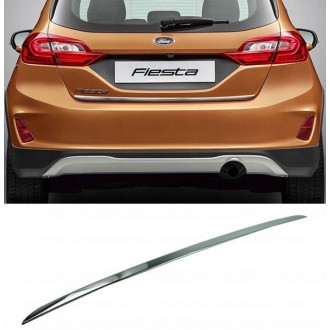 FORD FIESTA Mk8 17+ - CHROME Rear Strip Trunk Tuning Lid 3M Boot