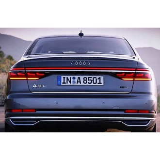 Audi A8 2017 - CHROME Rear Strip Trunk Tuning Lid 3M Boot