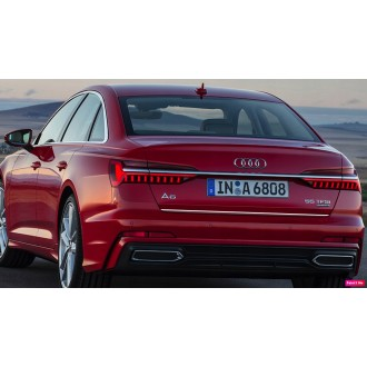 Audi A6 C8 - CHROME Rear Strip Trunk Tuning Lid 3M Boot