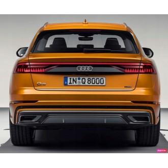 Audi Q8 - Chrom-Zierleiste Heckleiste 3M Tuning Chromleiste Heckklappe