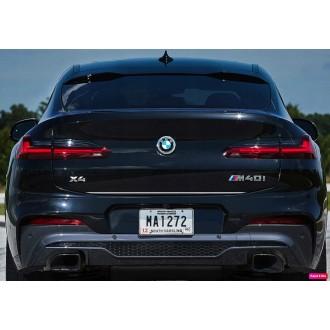 BMW X4 G02 2018+ - Chrom-Zierleiste Heckleiste 3M Tuning Chromleiste Heckklappe