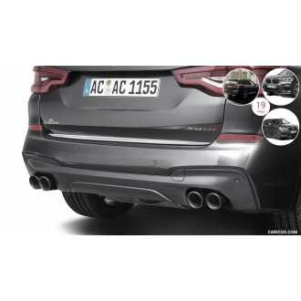 BMW X3 G01 2017+ - Chrom-Zierleiste Heckleiste 3M Tuning Chromleiste Heckklappe