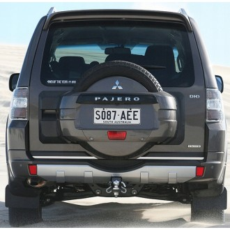 Mitsubishi PAJERO III, IV - CHROME Rear Strip Trunk Tuning Lid 3M Boot