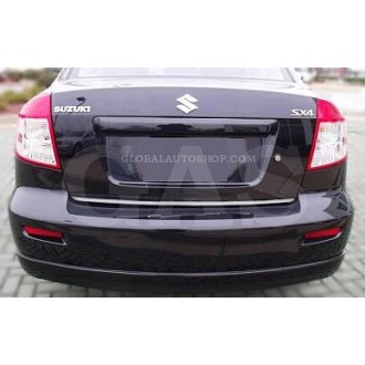 SUZUKI SX4 Sedan - CHROME Rear Strip Trunk Tuning Lid 3M Boot