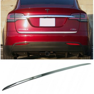TESLA Model X - CHROME Rear Strip Trunk Tuning Lid 3M Boot