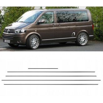 VW Transporter T5 LONG - Chrom Zierleisten Türleisten