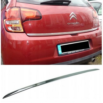 Citroen C3 II 08 - CHROME Rear Strip Trunk Tuning Lid 3M Boot