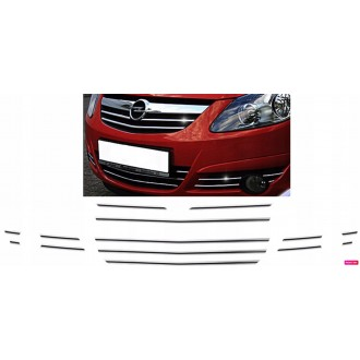 OPEL CORSA D - Chrome Grille Kit 3M Tuning
