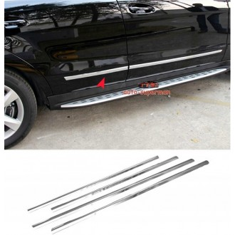 Mitsubishi Lancer EVO 9 Listwy CHROM Boczne Drzwi