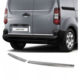 Peugeot Partner - CHROME Rear Strip Trunk Tuning Lid 3M Boot