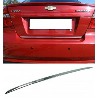 Chevrolet AVEO II Sedan - CHROME Rear Strip Trunk Tuning Lid 3M Boot