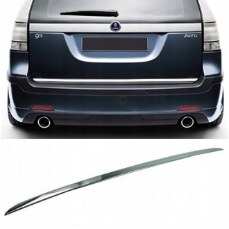 Saab 9-3, 9-3X Kombi - CHROME Rear Strip Trunk Tuning Lid 3M Boot