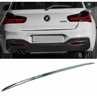 BMW 1 SERIES 2016 - CHROME Rear Strip Trunk Tuning Lid 3M Boot