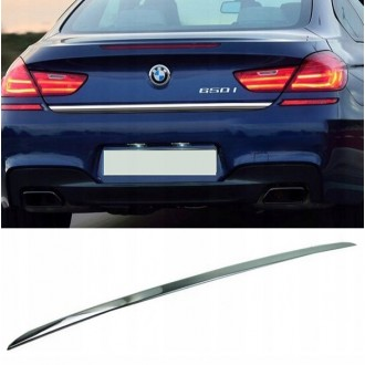 BMW 6 - F12 F13 2010 - CHROME Rear Strip Trunk Tuning Lid 3M Boot
