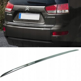 Citroen C-CROSSER - CHROME Rear Strip Trunk Tuning Lid 3M Boot