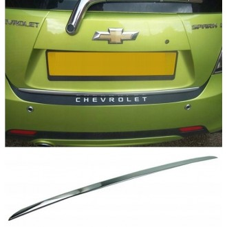 Chevrolet SPARK II M300 09 - CHROME Rear Strip Trunk Tuning Lid 3M Boot