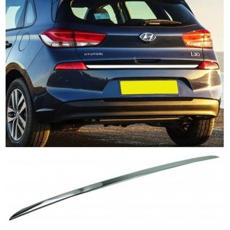 Hyundai i30 III 16 - CHROME Rear Strip Trunk Tuning Lid 3M Boot